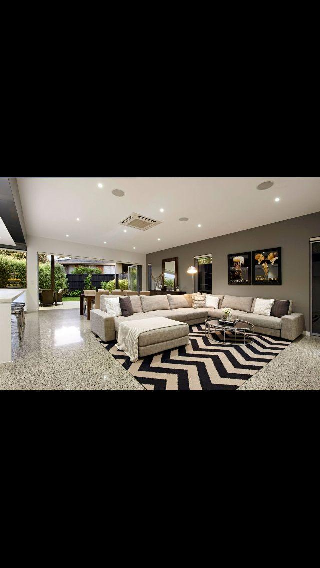 Melbourne Builders Concept Build #interiordesign #kitchen #polishedconcrete