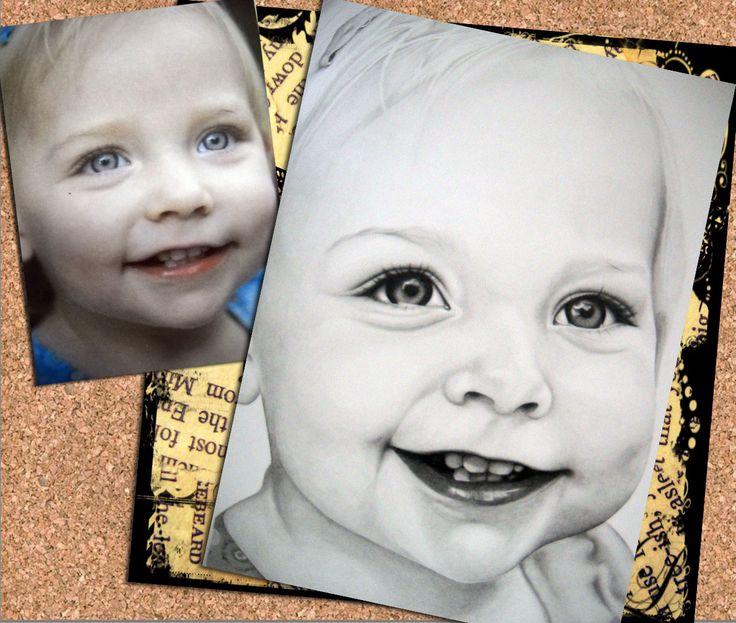 Baby Portrait 1 - Done by Zelda Venter