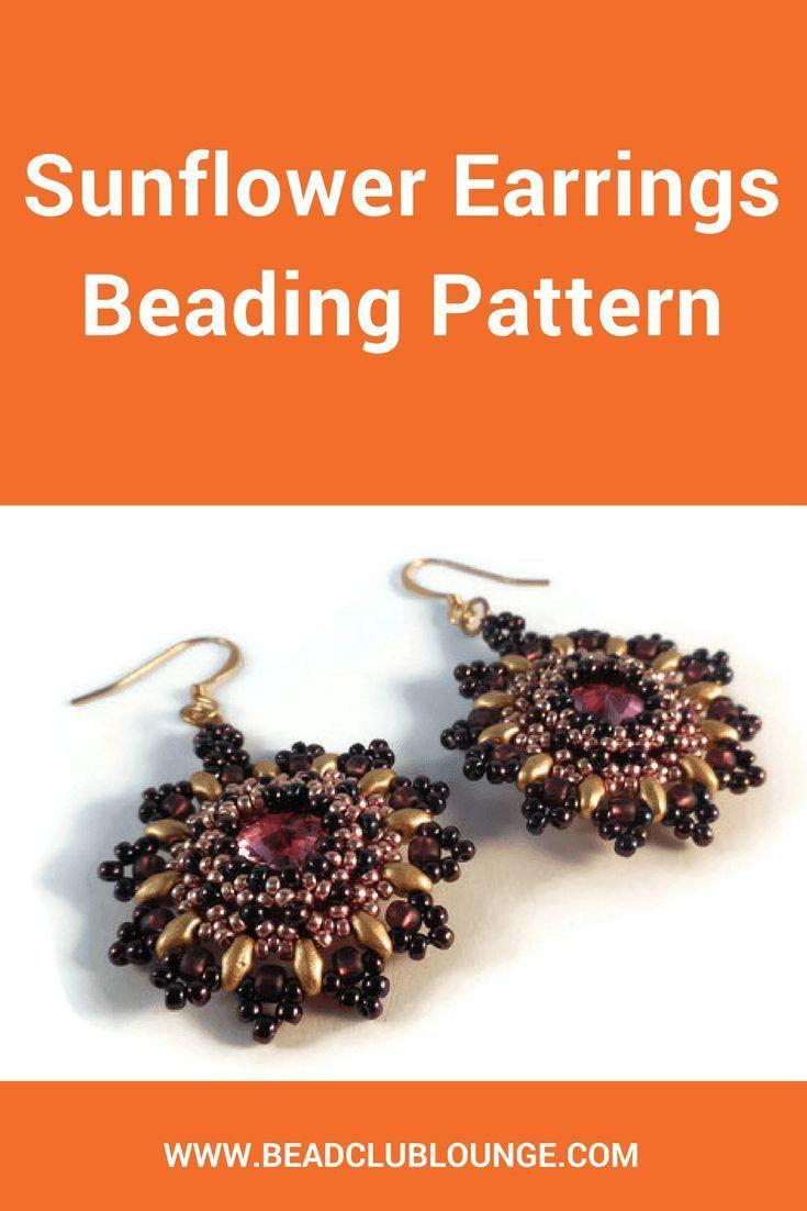 Right Angle Weave Earring Pattern Beaded Earring Tutorial