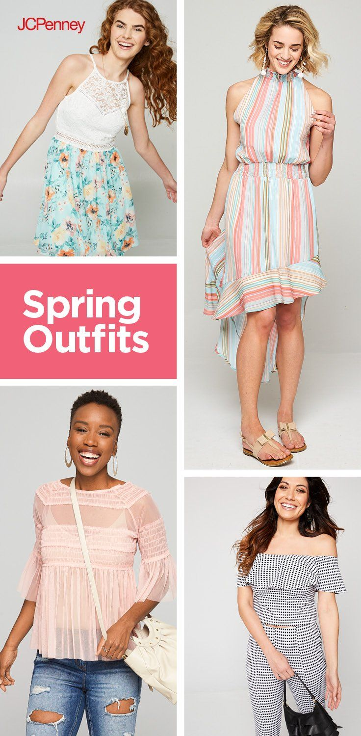 This Easter, keep it casual in flowy dresses, breezy tops and tailored pants. Whether you opt for a pretty floral print or go bold in standout stripes, you'll find Easter outfits just your style—and at the right price, too! JCPenney has all the latest spring looks from your favorite brands to help you celebrate in style.