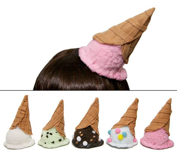 Upside Down Melted Ice Cream Cone Hat - 12 Flavors Available! - Made to Order