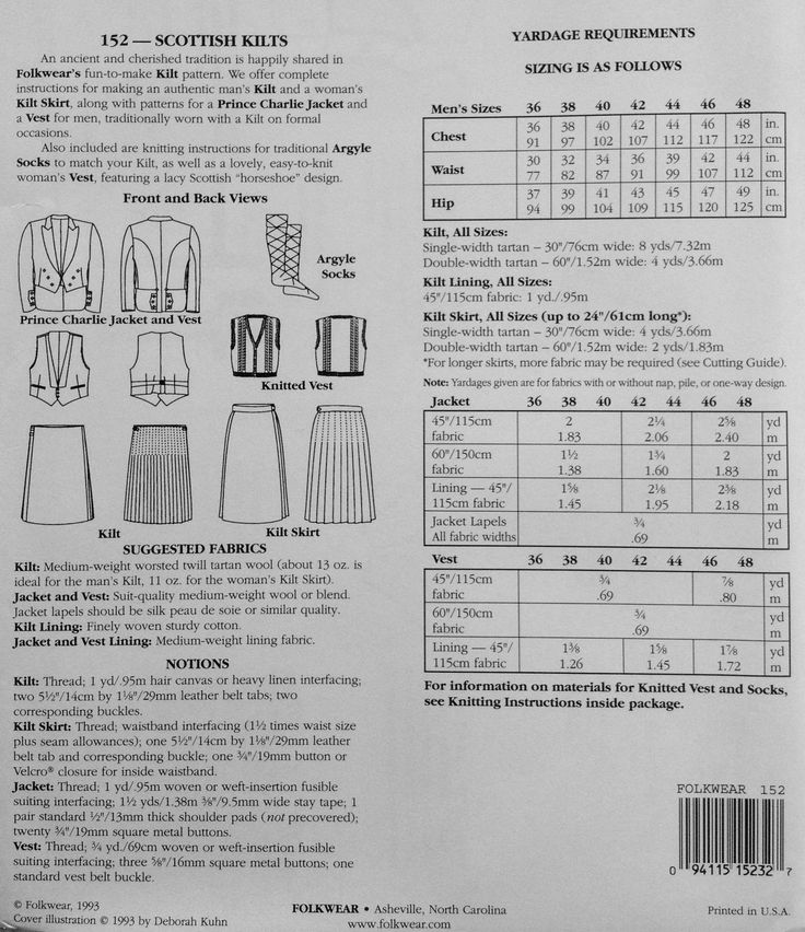 PATTERNS FOR KILTS | Browse Patterns