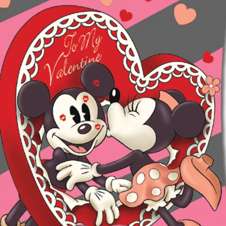 Valentine Mickey Mouse Flag | Retro Mickey Mouse And Minnie Mouse Valentine's Day Flag | eBay