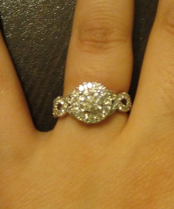 Buying a Moissanite co halo engagement ring WHAT SIZE CENTER STONE SHOULD I  GET? -