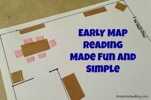 Map Games: {Floor Plan} Treasure Hunt - Kids Activities Blog (Make a map of the room, mark where small treasures are hidden on the map and have them find the treasures)