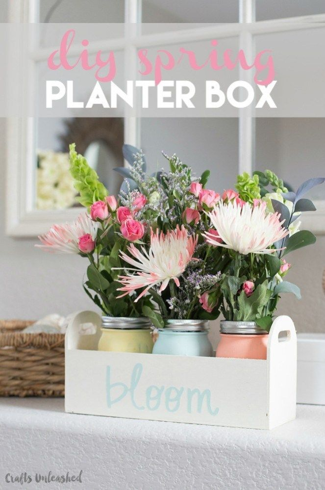 DIY Planter Box for Spring – Consumer Crafts – #Bacafleurspourl'ete #Havredepaix…