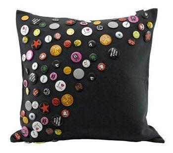 Rock N Roll Badge/Pin Pillow  what a cute idea!