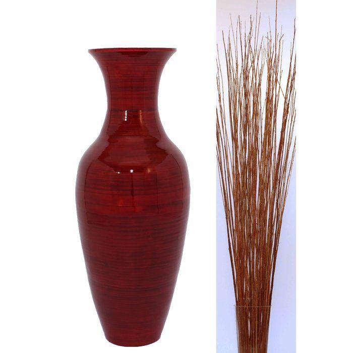 Kalb Bamboo Floor Vase In 2020 Floor Vase Decor Vases Decor