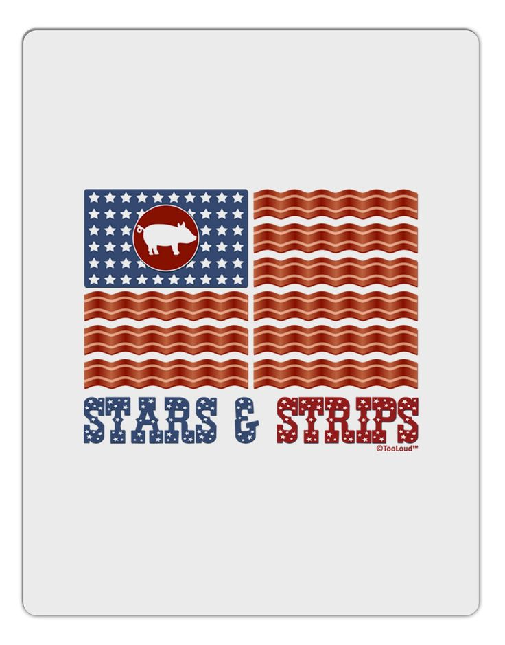 American Bacon Flag - Stars and Strips Aluminum Dry Erase Board