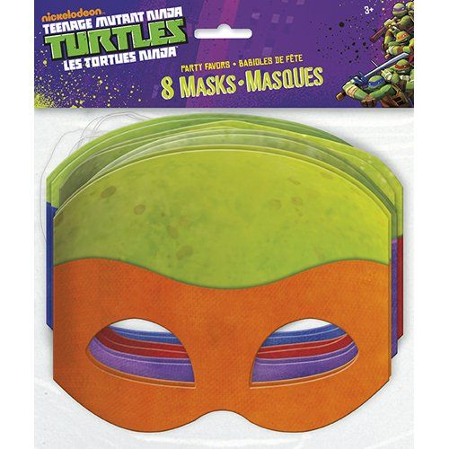 BESTSELLER! TMNT Party Masks [8 Per Pack] $3.99