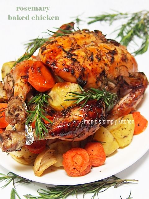 Rosemary Baked Chicken Ayam Memasak Resep Makanan
