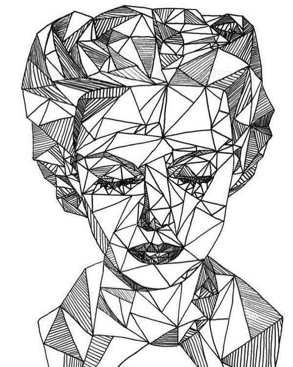 Triangle Face, Geometric, Fit Together, Shadows, Unique