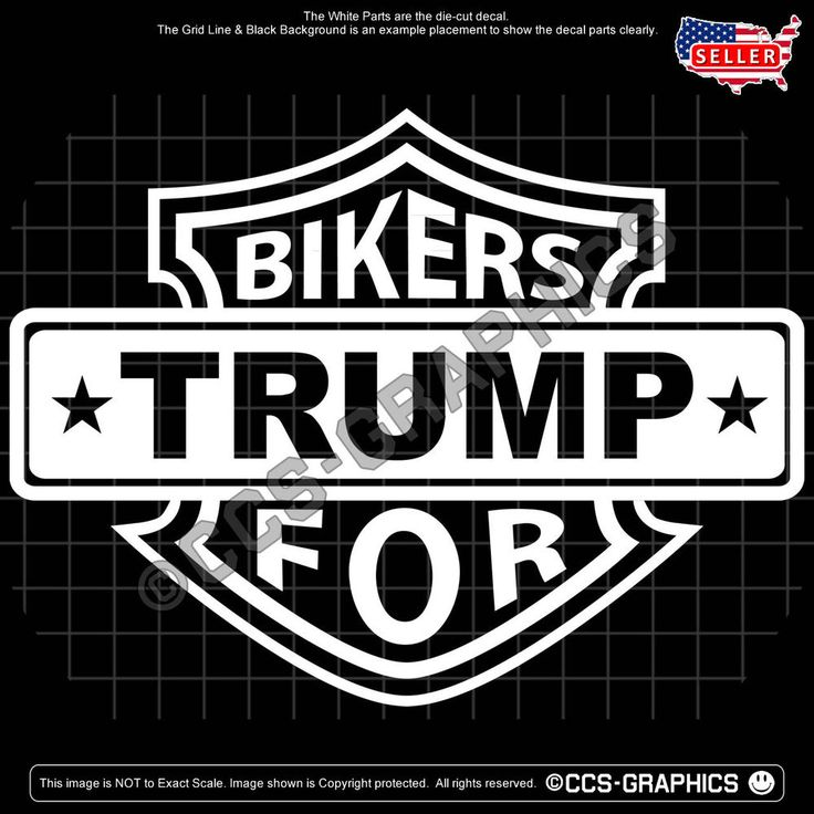 BIKERS For TRUMP Die-cut DECAL president donald 2020 deplorable MAGA USA 4-SIZE #Oracal #PoliticalDiecut