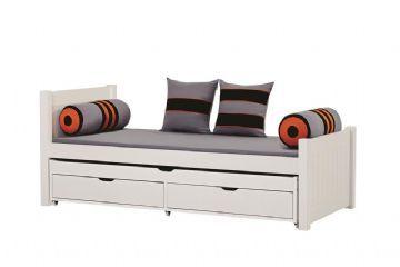 Deluxe säng med utdragbar säng och sänglådor 90x200 cm - Hoppekids Skater Säng 102732 Shop - Eurotoys - Barnmöbler online
