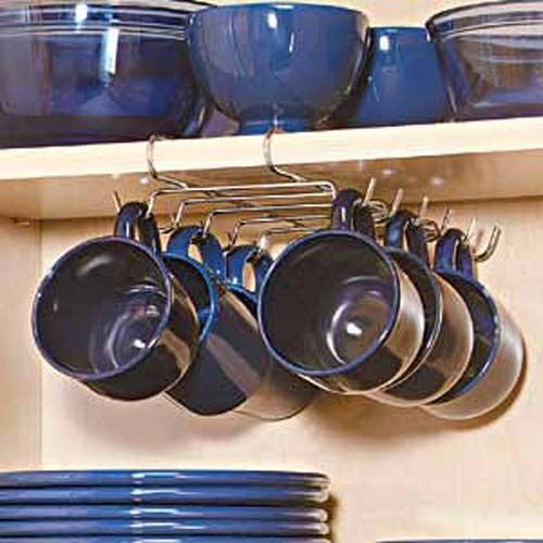 Need this for the million of mugs in my pantry  Under Shelf Cup Holder Organizer Kitchen 18311 | eBay