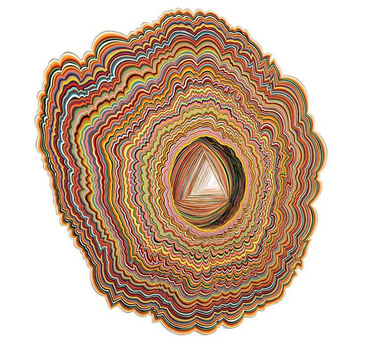 , Jen Stark, portali, arcobaleno, carta