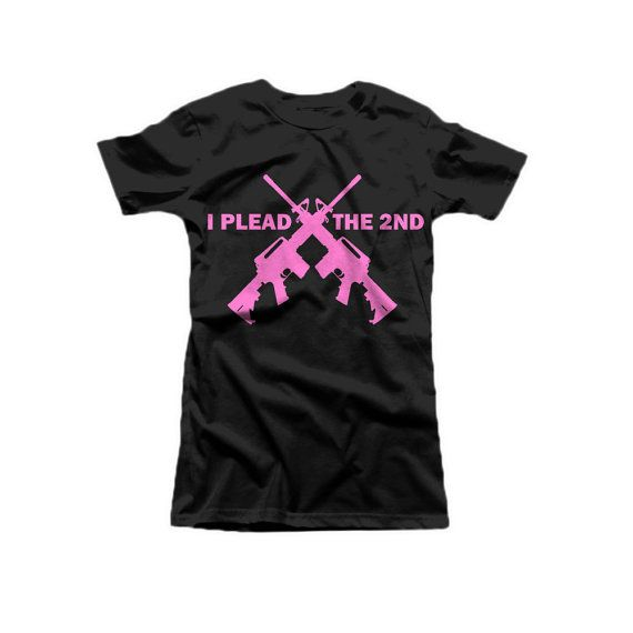 women's gun rights m16 ar15 i plead the second right by FrostyTees, $10.95