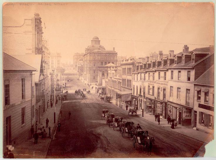 Sydney, Bridge St., 1884.
