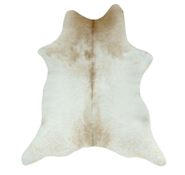 Alfombra Piel de Becerro Natural VIL-206 + 1 Cojín Piel de Vaca