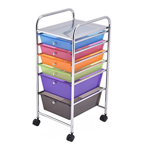 Craft Storage Cart With Wheels 6 Drawer Utility Bundle W Multiple Compartments Organizer Case Only 23