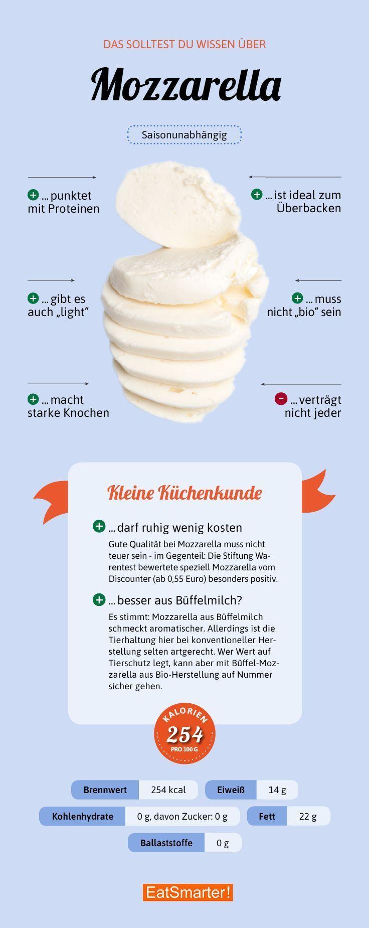 Sie sollten über Mozzarella wissen eatsmarter.de #mozzarella #infografik …   – Lebensmittel