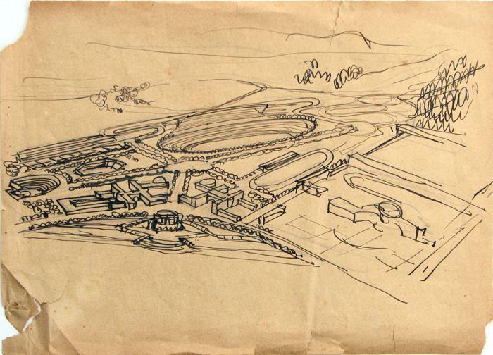 piano del Foro Mussolini, 1926, Archivio E. Del Debbio, MAXXI architettura