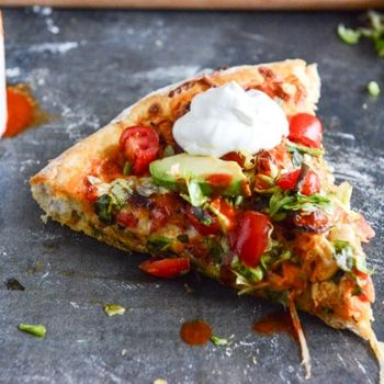 Chicken Enchilada Pizza - I may have to ask Paul for lessons on making the perfect pizza crust just for this recipe.