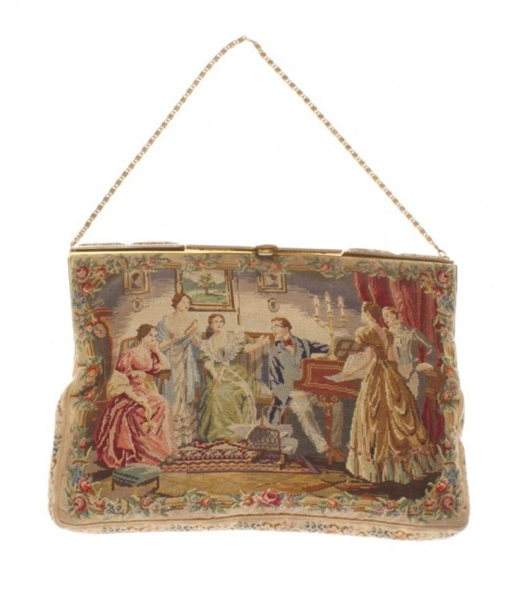 Rare #Tapestrybag 19th century http://www.madeinused.com/product/rare-tapestry-bag-19th-century/