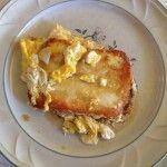 Caciotta fresca al tegame con le uova