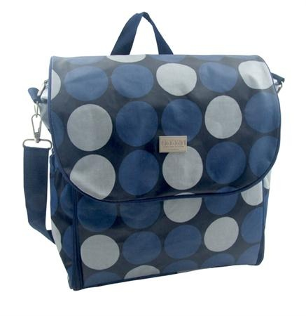 Navy Spot Nappy Bag