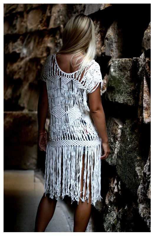 Macrame Dress - wow!  this could be made with the branches pattern...