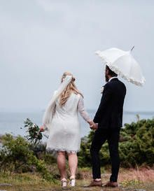 Our Ivory Guipure Lace Isabella was used by Matilda Olsson to create this bespoke dress.