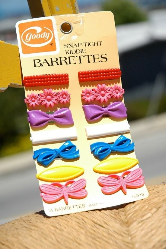 Goody Kiddie Barrettes were such perfect day-to-night accessories. | 23 Things You Used To Wear As A Kid