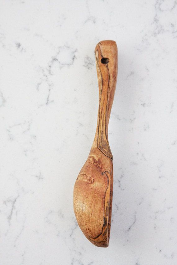 Wormy Spalted Maple Wooden Spoon Scandinavian by TheModernColonist