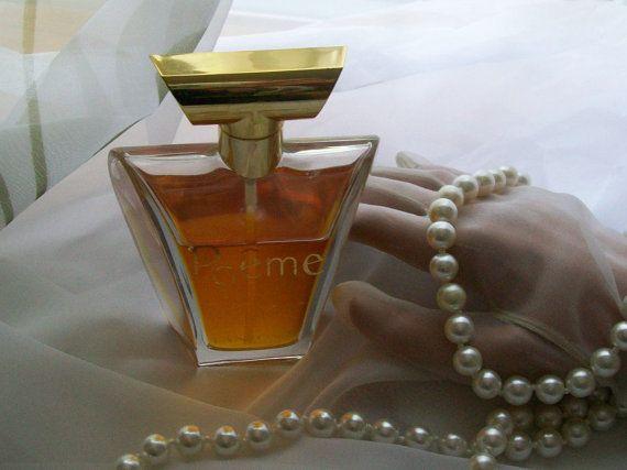 Vintage Lancome Poeme perfume spray 1.7 oz 60% by NewtoUVintage