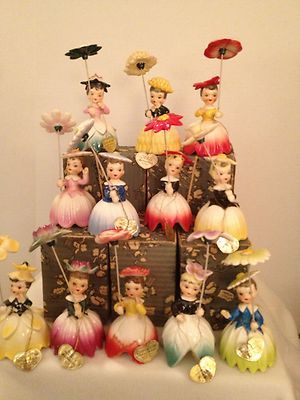 Vintage Napco Birthday Flower Girl Month Figurines - Collection