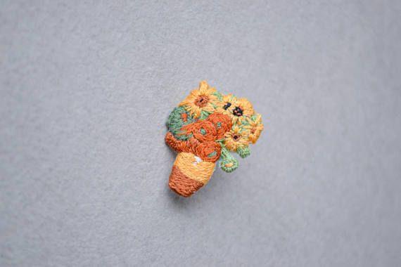 Cute pin for girlfriend art pin gift Vincent Van Gogh cute