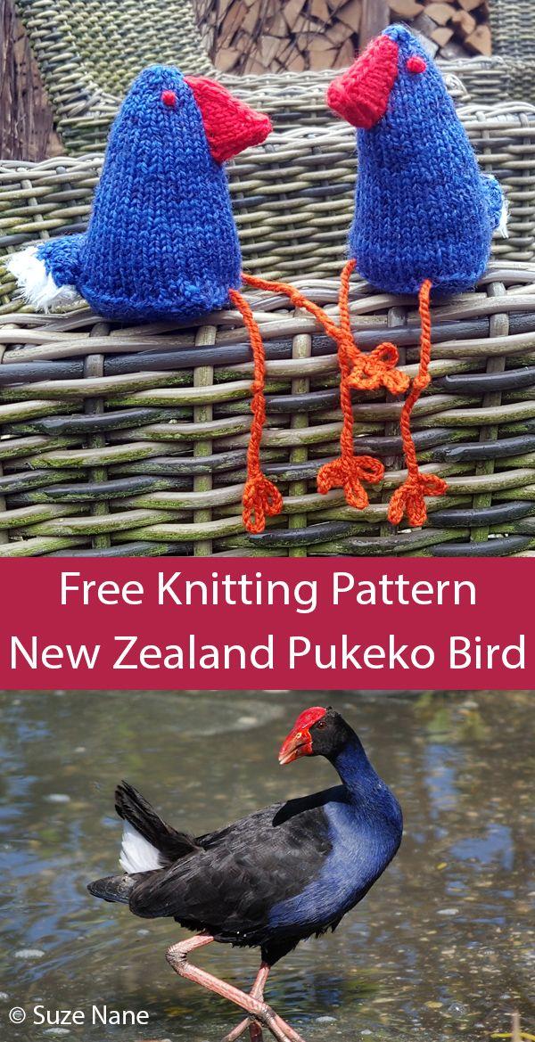 Free Knitting Pattern For Pukeko Bird Of New Zealand Bird Toy