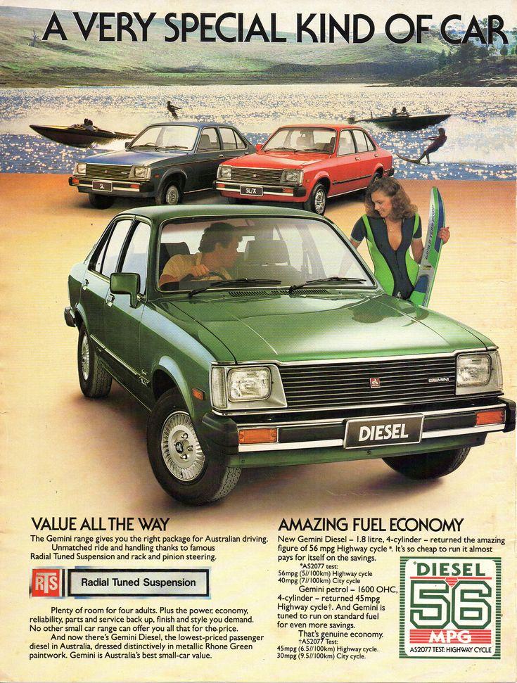 https://flic.kr/p/22NrKoQ | 1981 TE Holden Gemini Diesel & Range Page 1 Aussie Original Magazine Advertisement