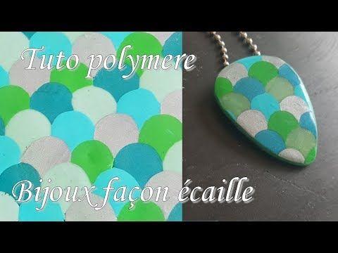 [♥✿ Tuto Fimo : bijoux écailles ✿♥] ~ [♥✿ Polymer Clay Tutorial : jewelry scales ✿♥] - YouTube