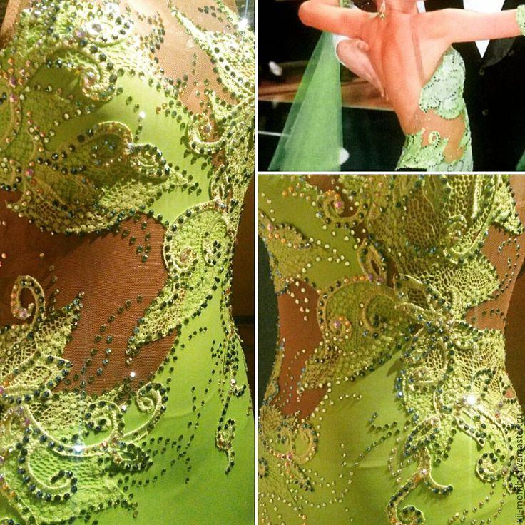 Купить Выборочно беру заказы на расклейку и декорирование платьев для танцев - бальные танцы, стразы пришивные