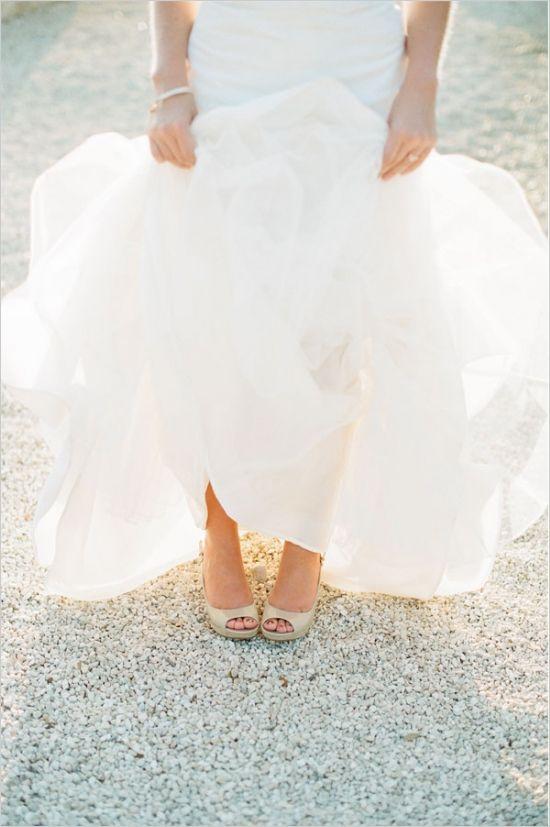 Austin Wedding Venue Gold ShoesDesigner