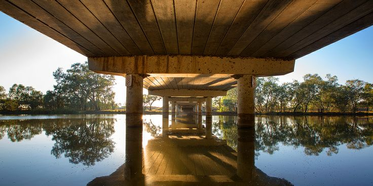 Peter Sinclair Bridge at Nyngan NSW Australia