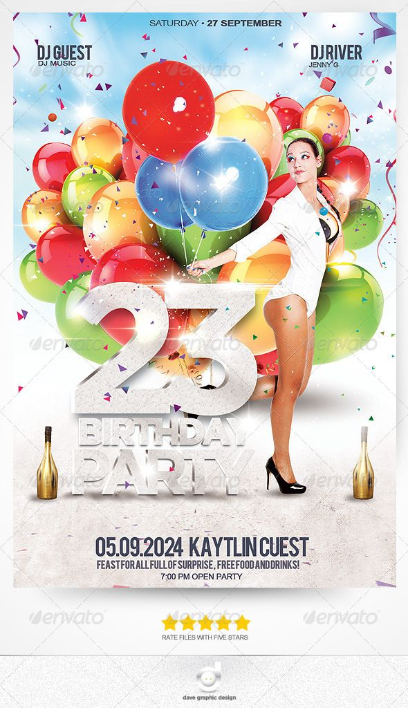 112 best Cards Birthday images on Pinterest Event flyers, Font - birthday flyers template