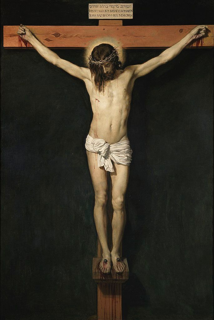 -Cristo crucificado- (1632)  Diego Rodríguez de Silva y Velázquez (Seville, 1599-Madrid, 6 August 1660), known as Diego Velázquez, was a Spanish baroque painter considered one of the greatest exponents of Spanish painting and master of universal painting.  Museo Nacional Prado
