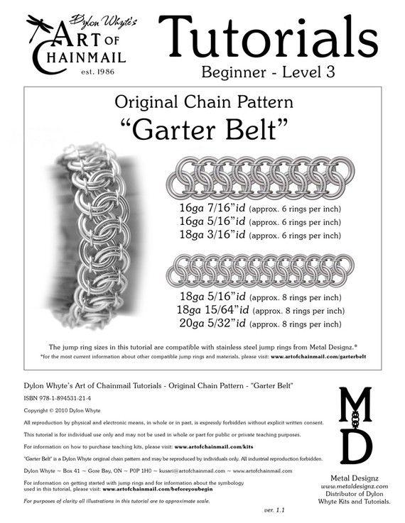Chain Tutorial  Garter Belt  PDF by dylonwhyte on Etsy
