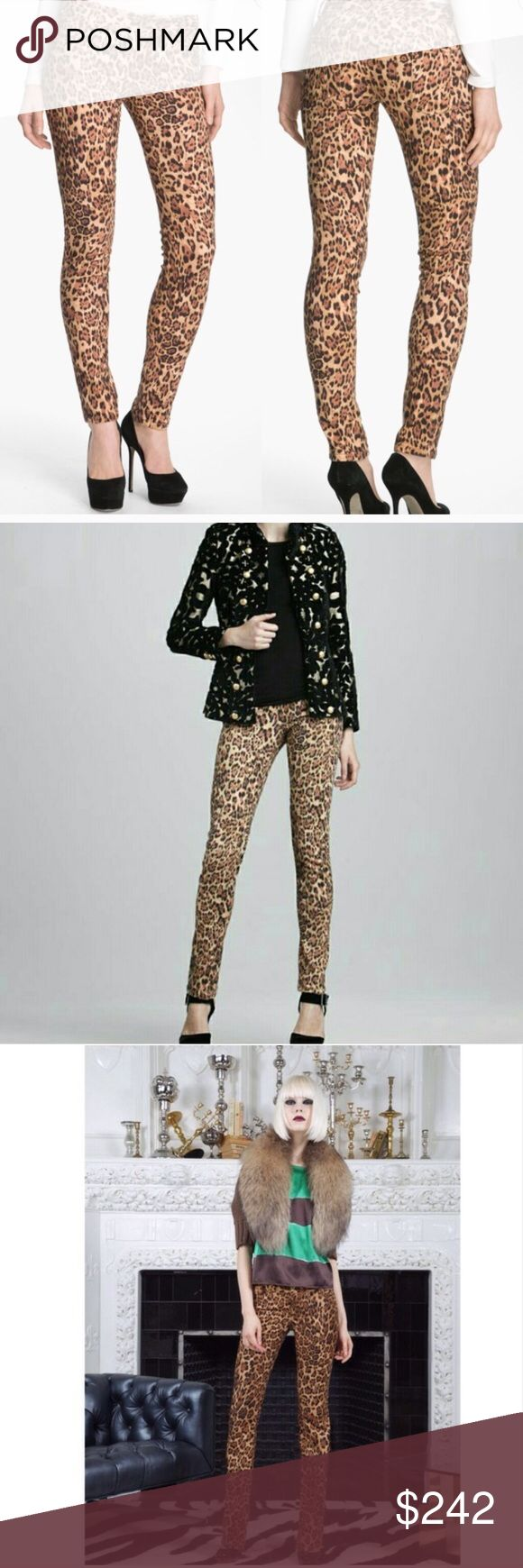 Alice + Olivia Leopard Animal Print Skinny Jeans Amazing pair of skinny jeans in a leopard print. The perfect way to mix up your closet. Stretchy with 3% spandex. Excellent condition. Made in USA. Inseam 33in. Rise 8in. Waist 15in. Bundles and offers welcome! Alice + Olivia Jeans Skinny
