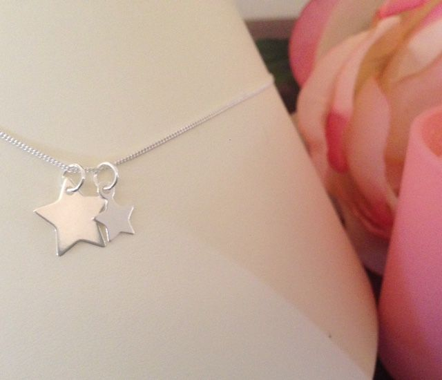 Joyful stars. Meaningful sterling silver pendants. Versatile to wear.  Share with a loved one. Mother and daughter. Best friends. Aunty and niece. Sisters. Perfect to wear at Christmas.