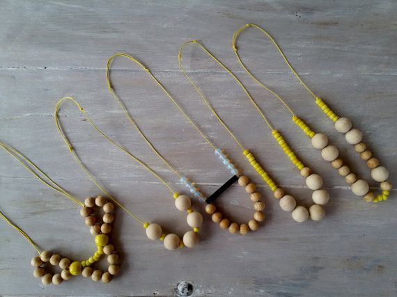 ALCMENE wooden bead necklace moonstone necklace by MerakibyStevie