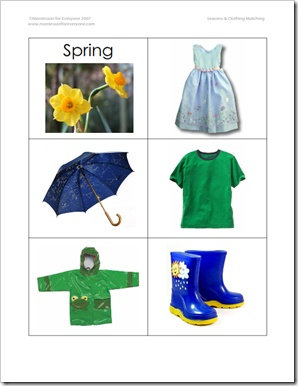 seasons match clothing cards great for pocket chart sorting spring preschool theme. Black Bedroom Furniture Sets. Home Design Ideas